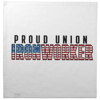 Union Ironworker Napkin