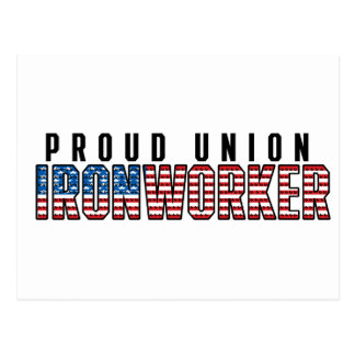 Union Ironworker Postcard