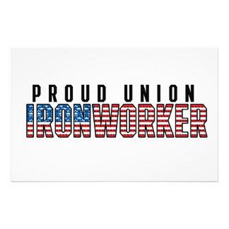 Union Ironworker Stationery
