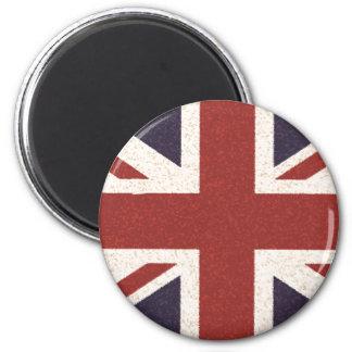 Union Jack 6 Cm Round Magnet