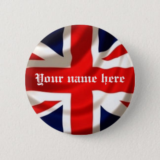 Union Jack (Add your own name) 6 Cm Round Badge