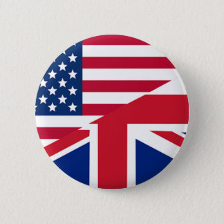Union Jack American Flag Pattern Stars Stripes 6 Cm Round Badge