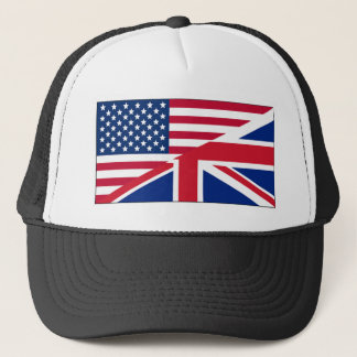 Union Jack American Flag Pattern Stars Stripes Trucker Hat