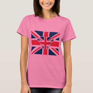 Union Jack and 3D Heart Art T-Shirt