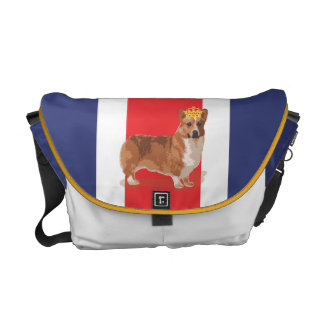 Union Jack and Corgi with Crown Commuter Bags