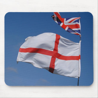 Union Jack and England Flag Mouse Mat
