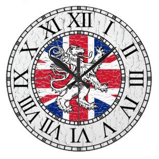 Union Jack and Lion Weathered Large Clock