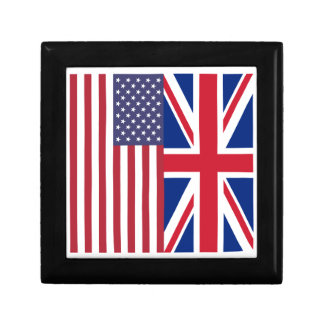 Union Jack And United States of America Flags Gift Box