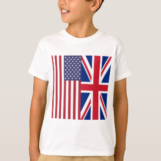 Union Jack And United States of America Flags T-Shirt