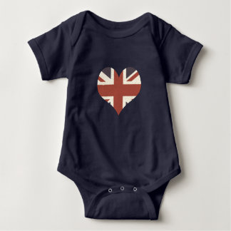 Union Jack Baby Bodysuit