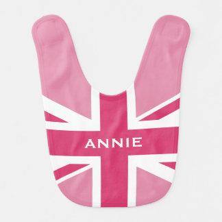 Union Jack | Baby Pink Baby Bib