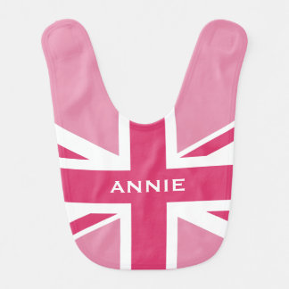 Union Jack | Baby Pink Bib