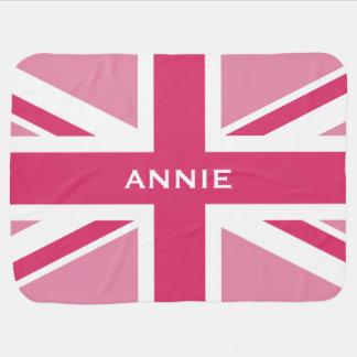 Union Jack | Baby Pink Swaddle Blankets