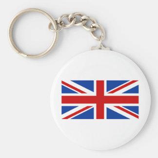 Union Jack Basic Round Button Key Ring