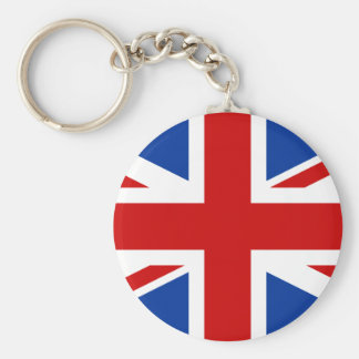 Union Jack Basic Round Button Key Ring
