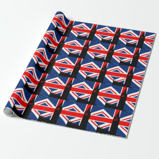 Union Jack Big Ben Parliament Wrapping Paper