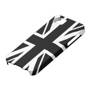 Union Jack ~ Black and White Case For The iPhone 5