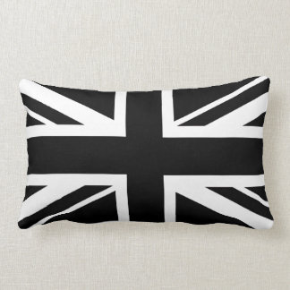 Union Jack ~ Black and White Lumbar Cushion