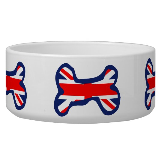 Union Jack Bone Pet Bowl