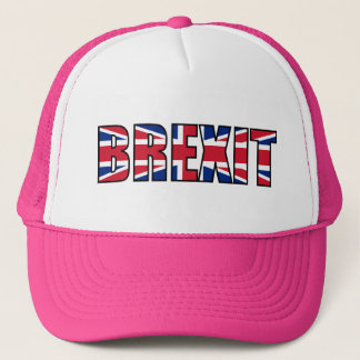 Union Jack Brexit, White Pink Trucker Hat