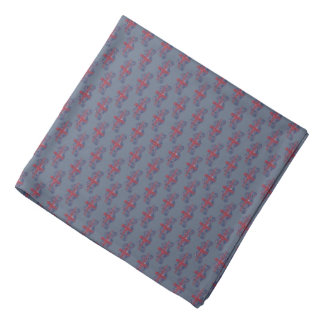 Union Jack British Coat of Arms Grey Lapel Pocket Bandana