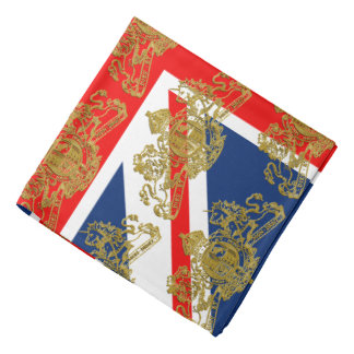 Union Jack British Coat of Arms Lapel Pocket Bandana