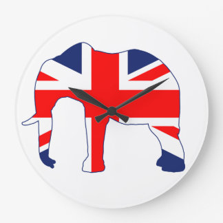 Union Jack British Elephant Clock