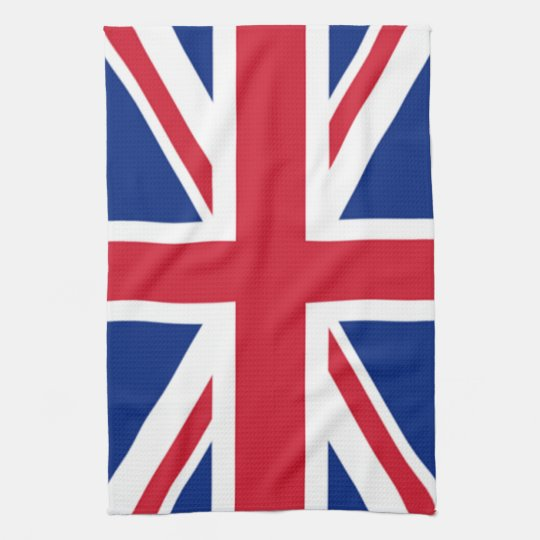 Union Jack British England Tea Kitchen Towel