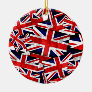 Union Jack British England UK Flag Christmas Ornament
