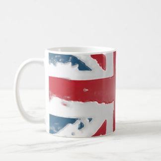 Union Jack British flag  Abstract wax art Mugs