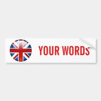 Union Jack British Flag Bumper Sticker