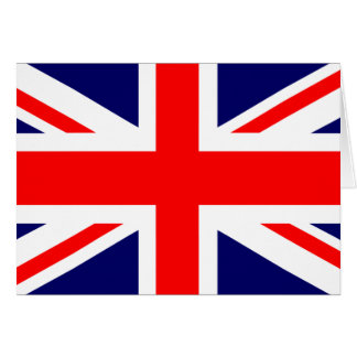 Union Jack British Flag Card