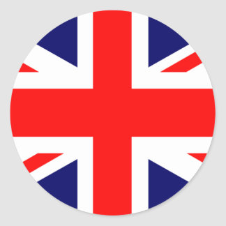 Union Jack British Flag Classic Round Sticker
