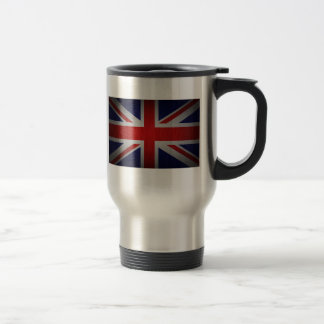 Union Jack British Flag Image on Travel Mug