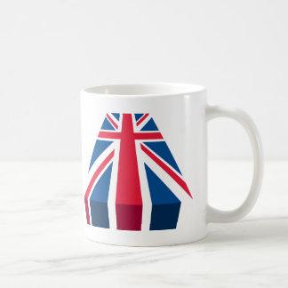Union Jack, British flag in 3D Basic White Mug