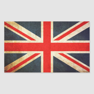 Union Jack British Flag Rectangular Sticker