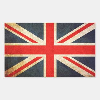 Union Jack British Flag Rectangular Sticker