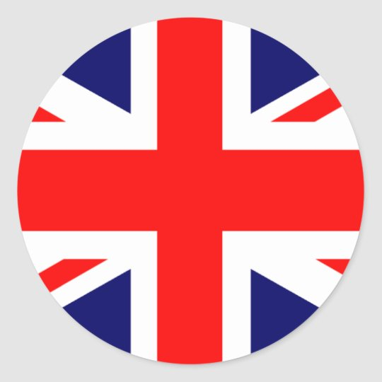 Union Jack British Flag Round Sticker