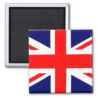 Union Jack British Flag Square Magnet
