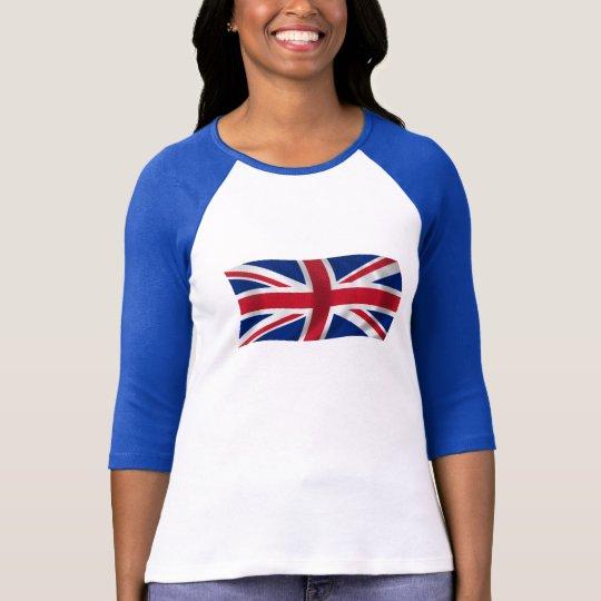 Union Jack British flag t shirt