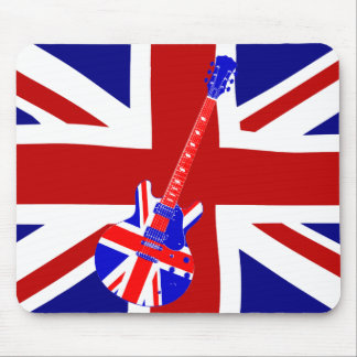 Union Jack British Guitar Art 2 Mouse Mat