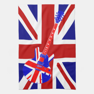 Union Jack British Guitar Art 2 Tea Towel