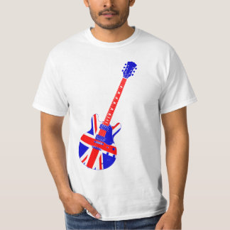 Union Jack British Guitar Art T-Shirt