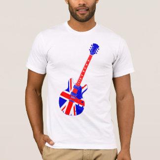 Union Jack British Guitar Art T-Shirt