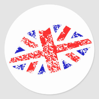 Union Jack British Kiss This! Stickers