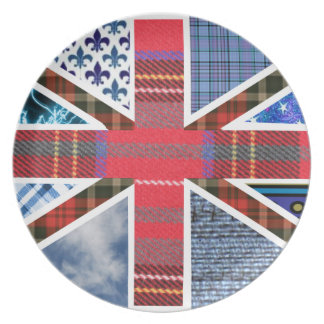 Union Jack British Patriot Tartan Plate