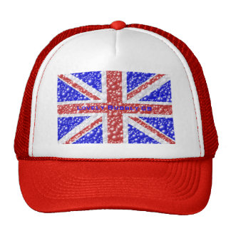 Union Jack Bubble Texture Mesh Hat