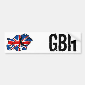 Union Jack Bulldog Bumper Sticker