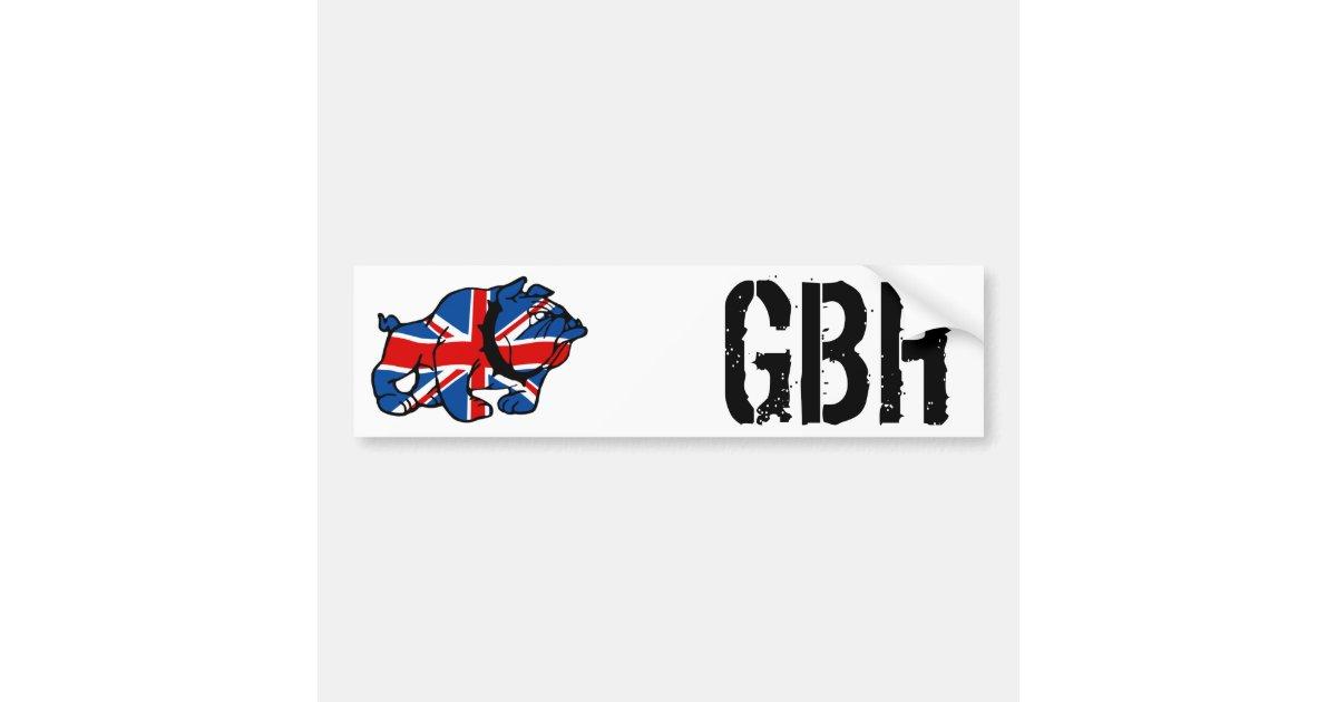 union jack bulldog bumper sticker
