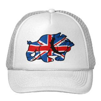 Union Jack Bulldog Trucker Hats
